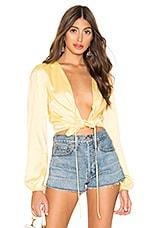 MAJORELLE Coco Top in Baby Yellow