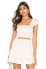 MAJORELLE Ginger Top in White