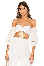MAJORELLE Privett Top in Ivory
