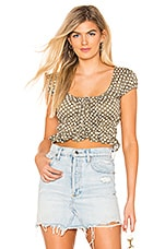 MAJORELLE Pegasus Top in Green & White Dot