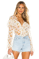 MAJORELLE Mariel Blouse in Misty Yellow