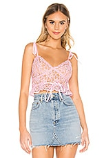 MAJORELLE Charlee Top in Candy Pink