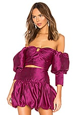 MAJORELLE Charleston Top in Fuchsia Pink