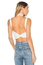 MAJORELLE Riviera Top in Ivory