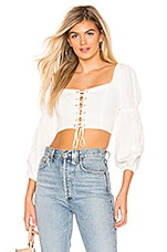 MAJORELLE Sienna Top in White