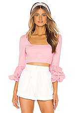 MAJORELLE Beatrice Top in Bubblegum Pink