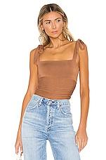 MAJORELLE Lauren Bodysuit in Brown Spice