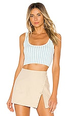 MAJORELLE Petra Crop in Blue Gingham