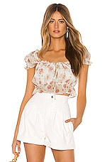 MAJORELLE Libby Top in White Prairie