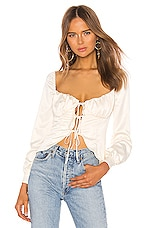 MAJORELLE Waldorf Top in Ivory
