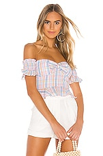 MAJORELLE Olympia Top in Pastel Plaid
