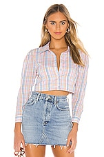 MAJORELLE Lenox Top in Pastel Plaid