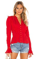 MAJORELLE Claudia Top in Red