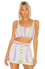 MAJORELLE Everest Top in Pastel Multi