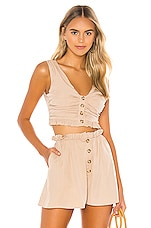 MAJORELLE Joey Top in Taupe