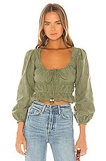 MAJORELLE Easton Top in Olive Green