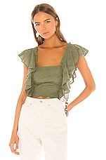 MAJORELLE Nicole Top in Olive Green