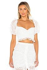 MAJORELLE Tinna Top in White