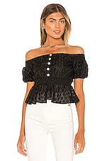 MAJORELLE Otto Top in Black