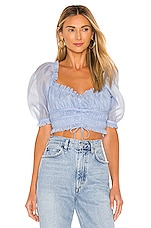 MAJORELLE Linza Top in Light Blue