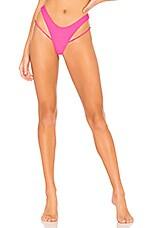MINIMALE ANIMALE The Side Street Thong Bikini Bottom in Vivid