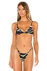 MINIMALE ANIMALE The Lucid Bikini Top in Acid Tiger