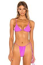 MINIMALE ANIMALE The Lucid Bijou Bikini Top in Aphrodisiac