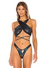 MINIMALE ANIMALE The Infinity Bikini Top in Galaxy Prism