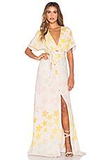 Mara Hoffman Tie Front Dress in Star Blast Pink