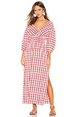 Mara Hoffman Nami Dress in White Red
