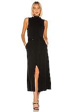 Mara Hoffman Belted Dress in Black