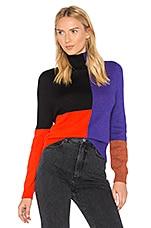Mara Hoffman Janet Colorblock Sweater in Red Multi
