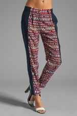 Printed Combo Pant in Stripe
