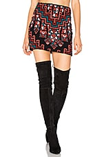 Bolnisi Rug Knit Mini Skirt in Burgundy