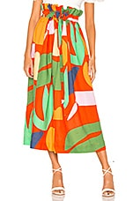 Mara Hoffman Adora Skirt in Red Multi