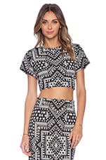 Crop Top in Star Jacquard