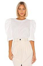 Mara Hoffman Katya Blouse in White