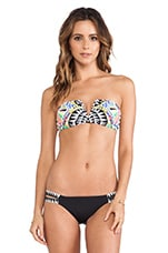 V-Wire Bandeau Top in Cosmic Fountain Black