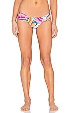 Mara Hoffman Side Ruched Bikini Bottom in Flora Blue
