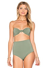 Knot Front Bandeau in Moss