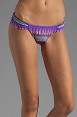 Rouched Side Bikini Bottom in Frida Violet