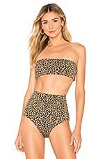 Mara Hoffman Abigail Bikini Top in Black Sage