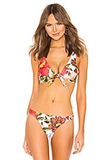 Mara Hoffman Rio Bikini Top in White Multi