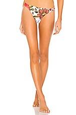 Mara Hoffman Reva Bikini Bottom in White Multi