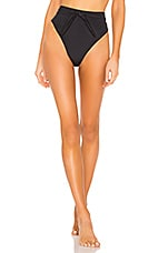 Mara Hoffman Goldie Bikini Bottom in Nero