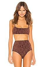 Mara Hoffman Sia Bikini Top in Brown
