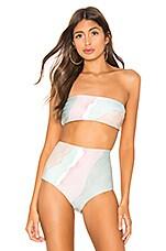 Mara Hoffman Abigail Bikini Top in Sage Multi