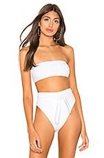 Mara Hoffman Abigail Bikini Top in Bianco