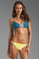 Basket Weave Top in Luau Black/Yellow