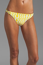 Basket Weave Bottom in Luau Black/Yellow